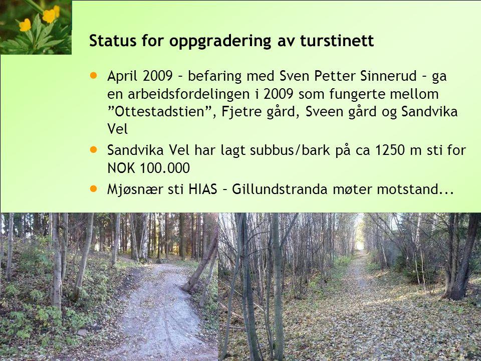 Status for oppgradering av turstinett