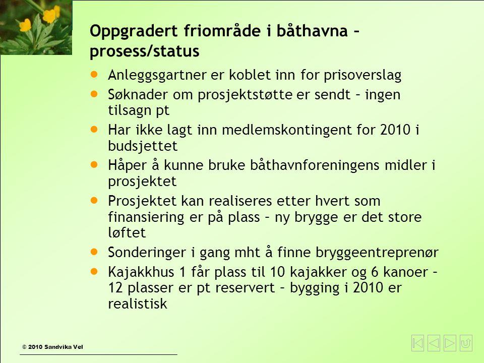 Oppgradert friområde i båthavna – prosess/status
