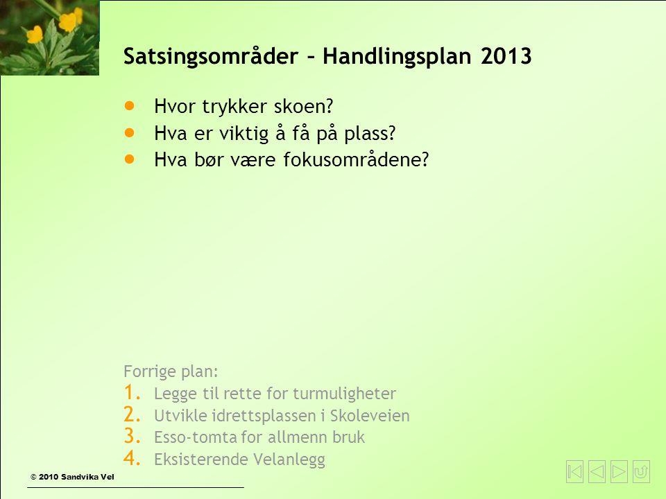 Satsingsområder – Handlingsplan 2013