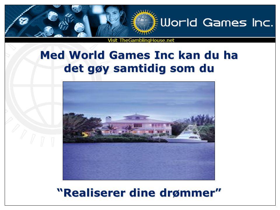 Med World Games Inc kan du ha det gøy samtidig som du