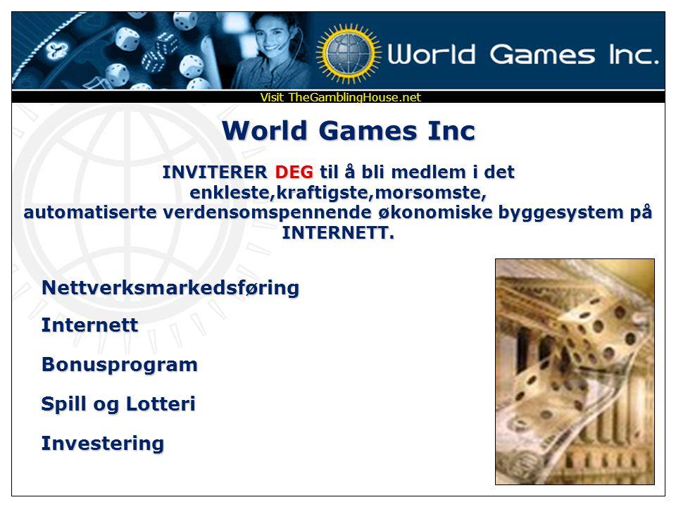 World Games Inc Nettverksmarkedsføring Internett Bonusprogram