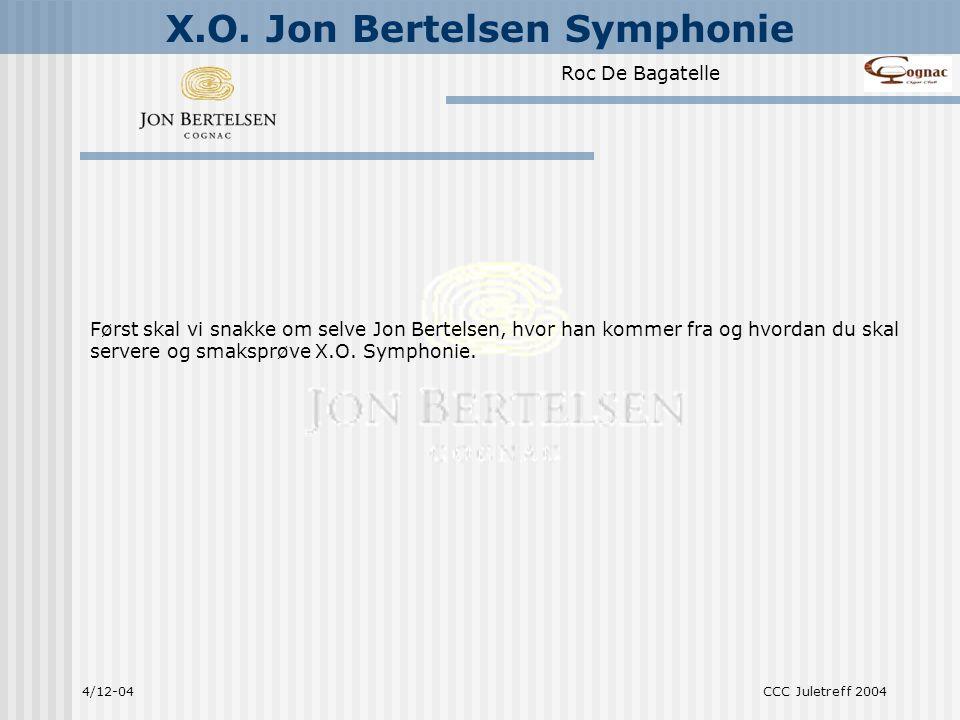 Først skal vi snakke om selve Jon Bertelsen, hvor han kommer fra og hvordan du skal servere og smaksprøve X.O. Symphonie.