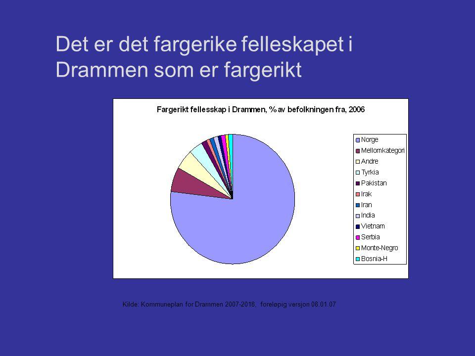 Det er det fargerike felleskapet i Drammen som er fargerikt