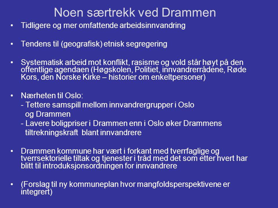 Noen særtrekk ved Drammen