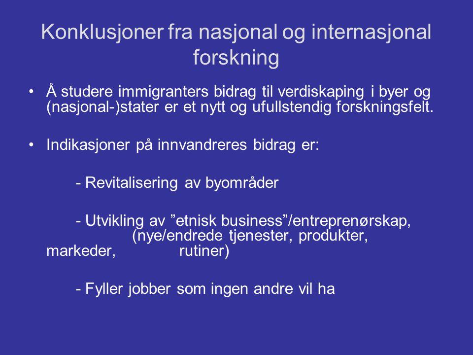 Konklusjoner fra nasjonal og internasjonal forskning