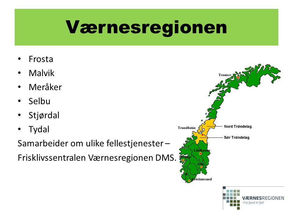 Værnesregionen Frosta Malvik Meråker Selbu Stjørdal Tydal