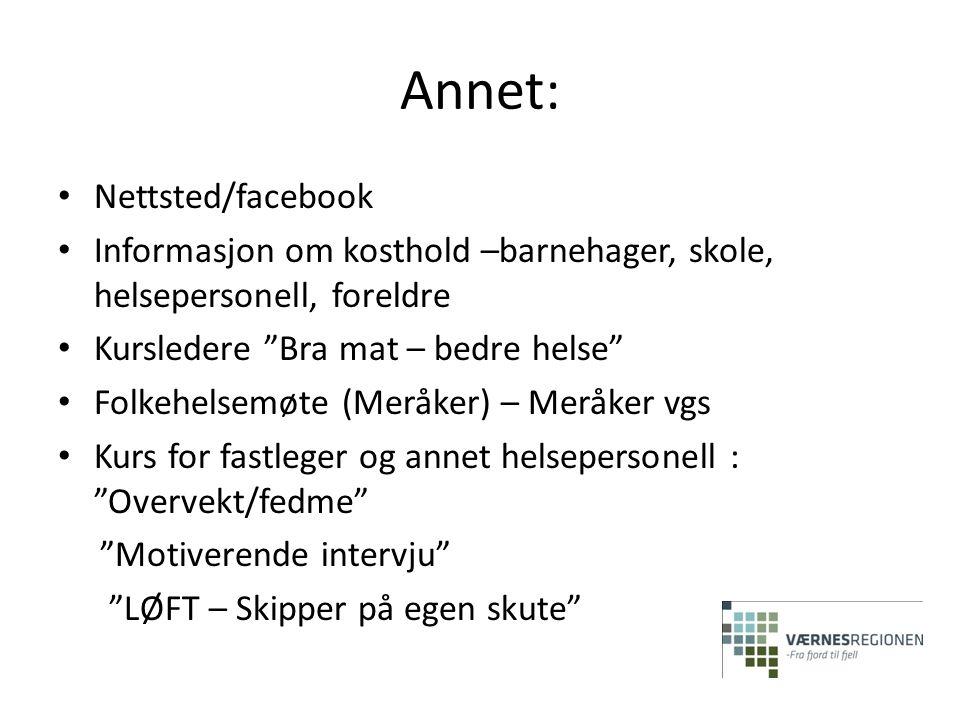 Annet: Nettsted/facebook