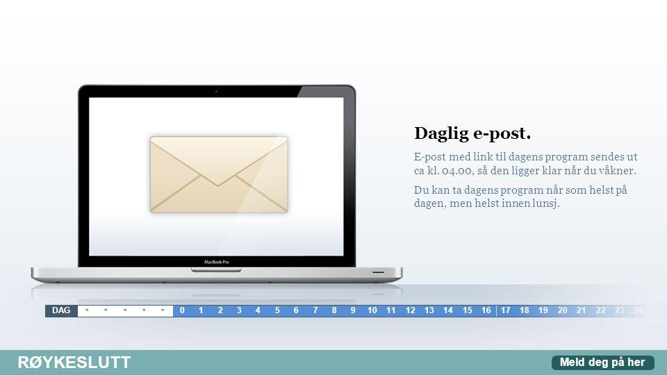 Daglig e-post. Røykeslutt
