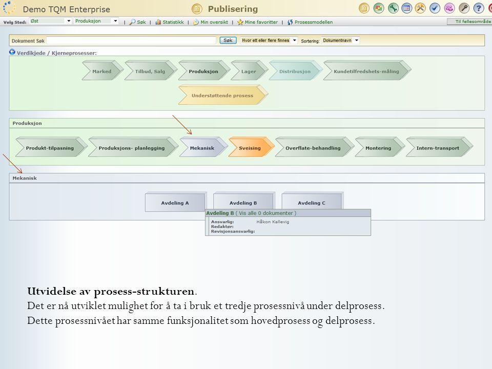 Utvidelse av prosess-strukturen