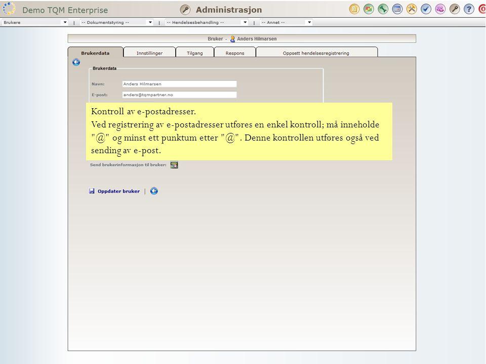 Kontroll av e-postadresser