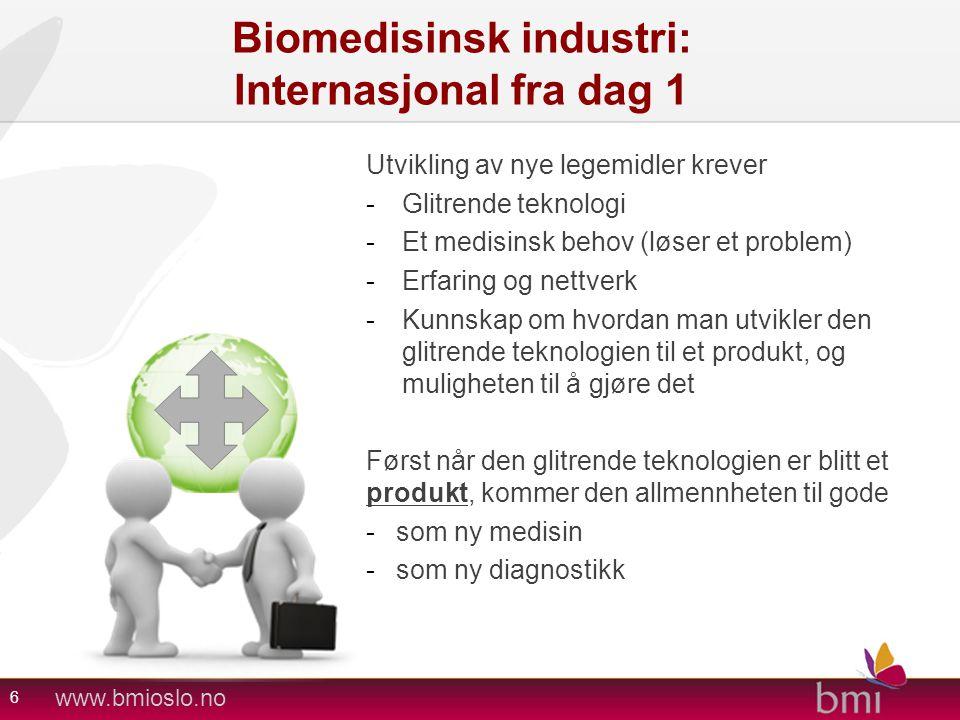 Biomedisinsk industri: Internasjonal fra dag 1