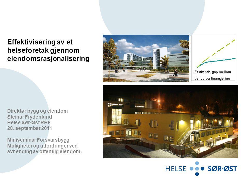 Effektivisering av et helseforetak gjennom eiendomsrasjonalisering