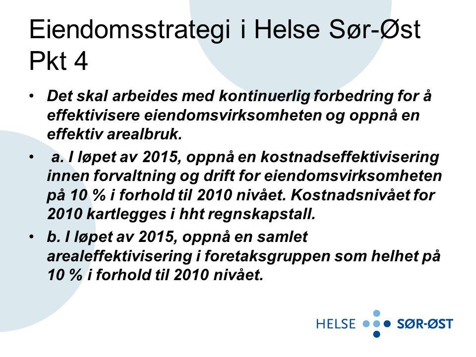 Eiendomsstrategi i Helse Sør-Øst Pkt 4