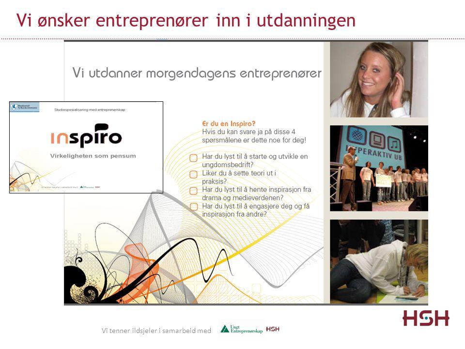 Vi ønsker entreprenører inn i utdanningen