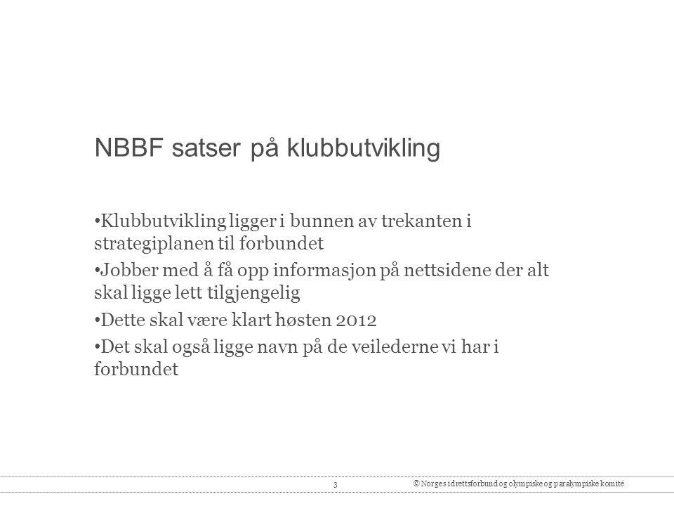 NBBF satser på klubbutvikling