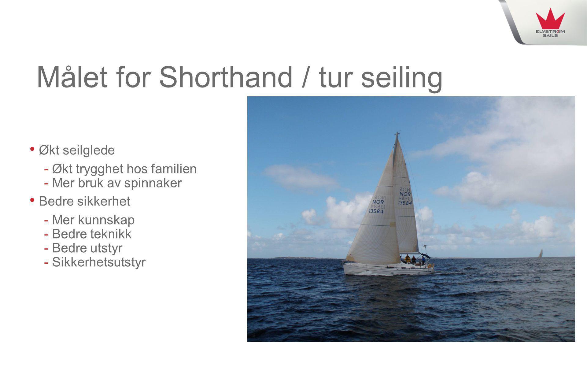 Målet for Shorthand / tur seiling