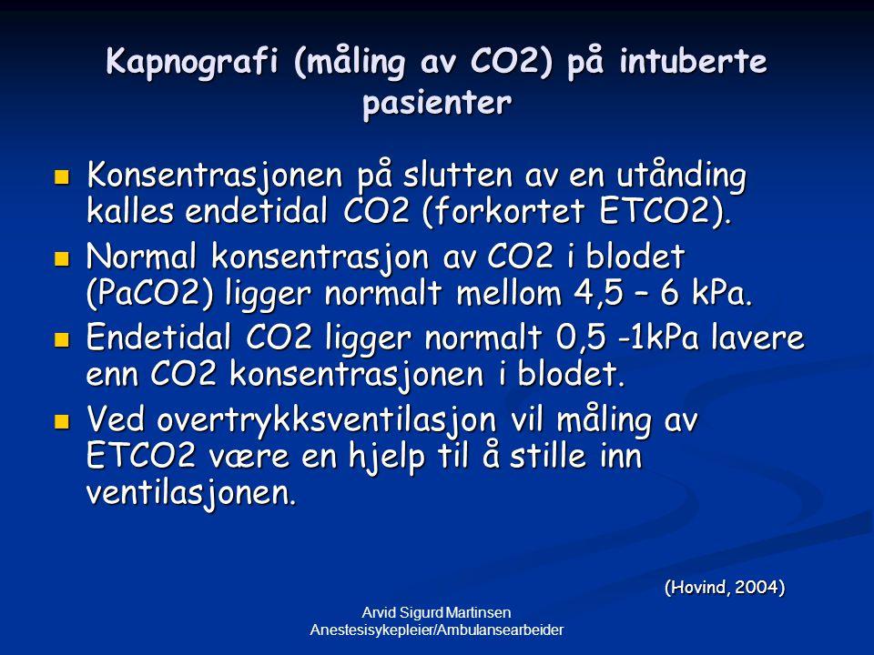 Kapnografi (måling av CO2) på intuberte pasienter