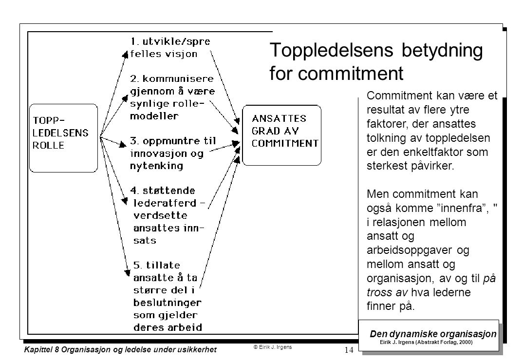 Toppledelsens betydning for commitment