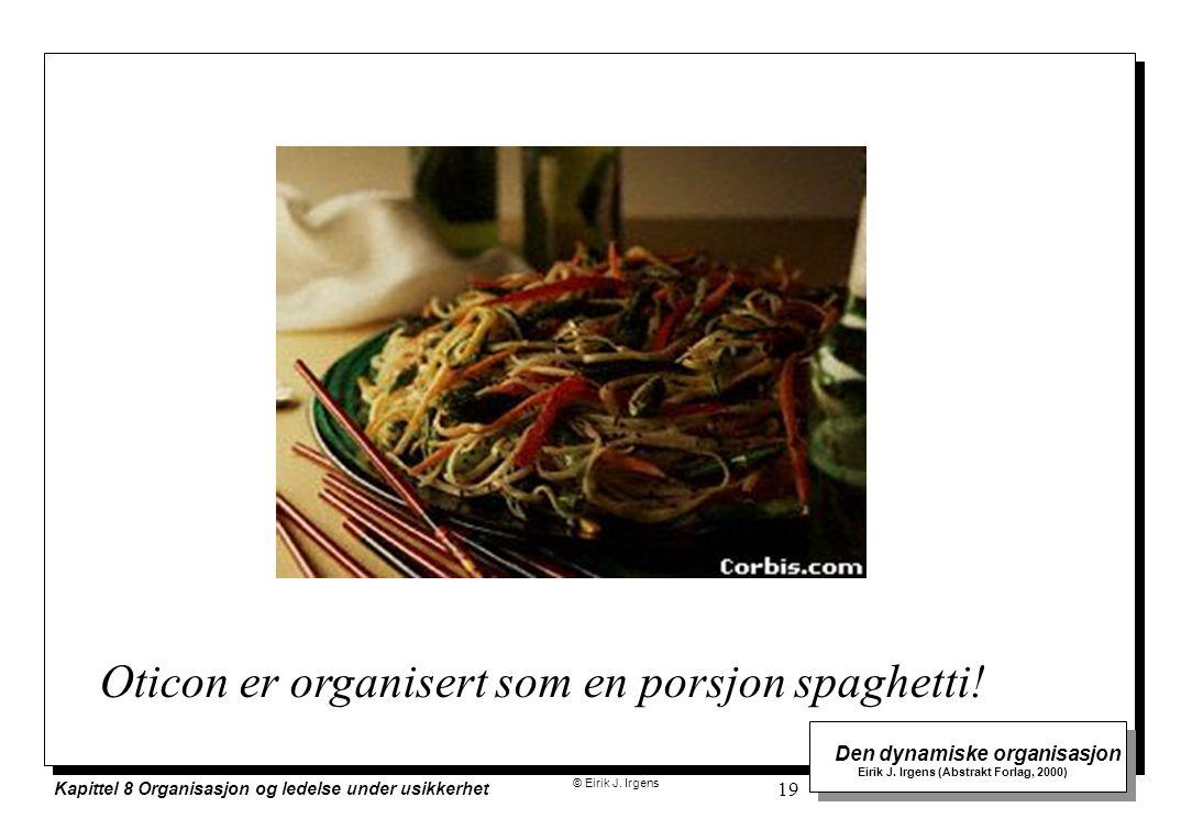 Oticon er organisert som en porsjon spaghetti!
