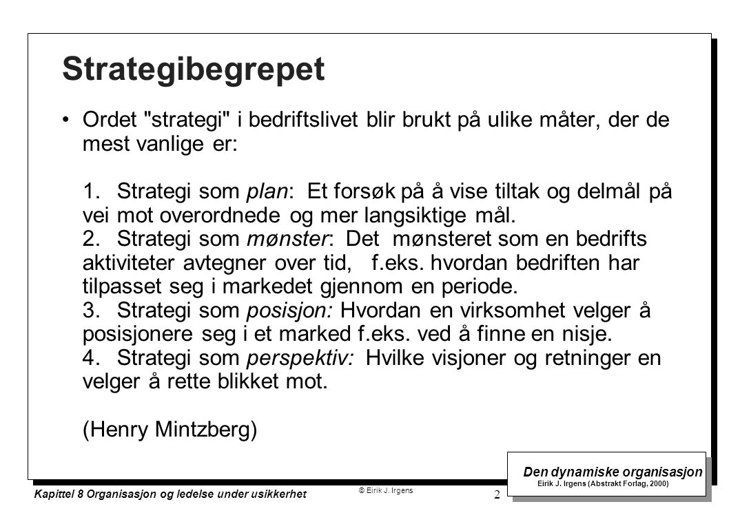 Strategibegrepet