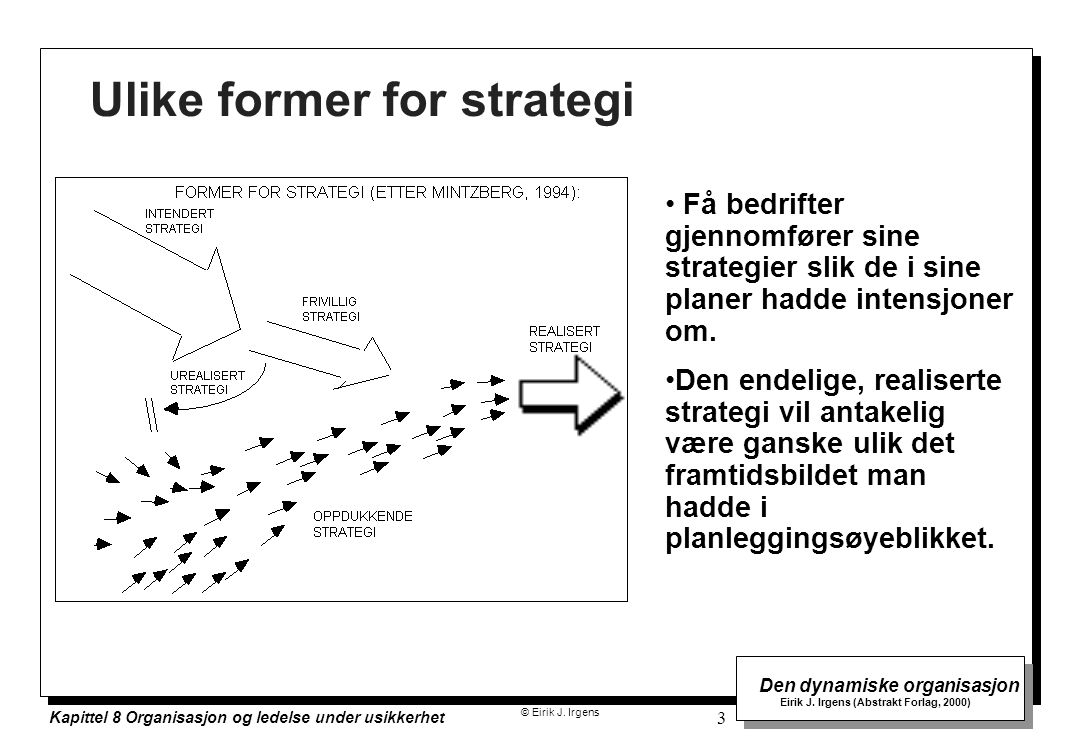 Ulike former for strategi