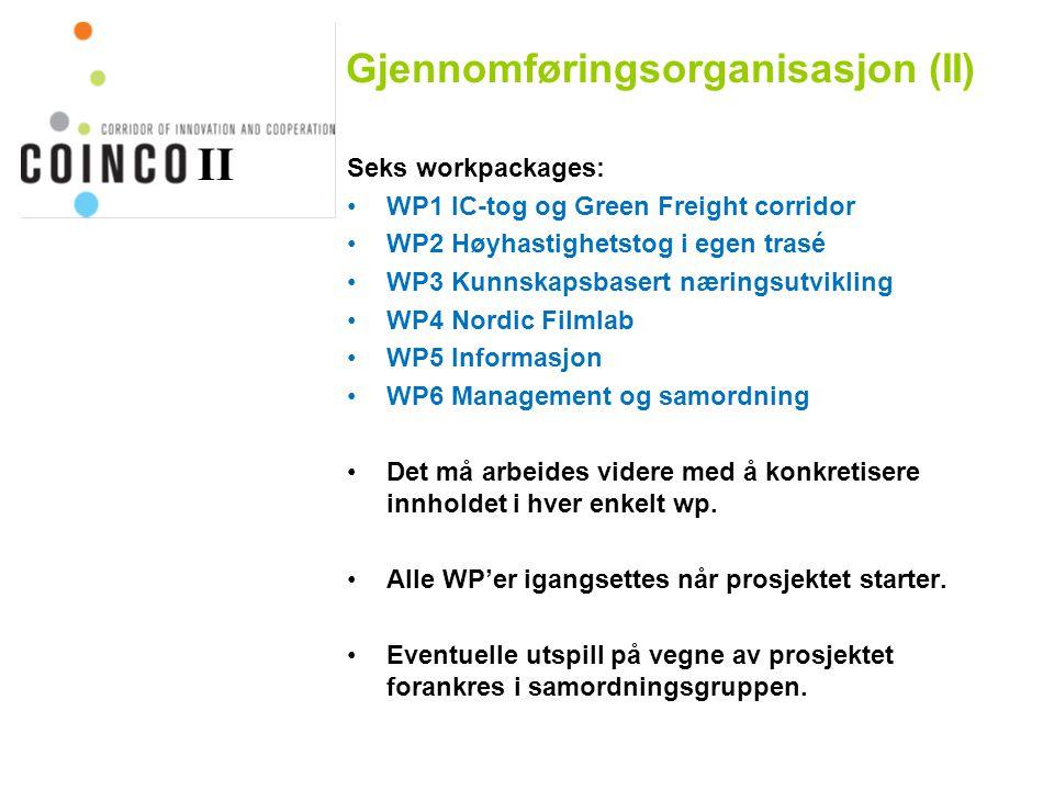 Gjennomføringsorganisasjon (II)