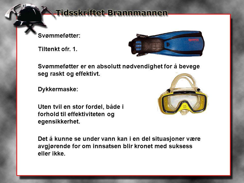 Svømmeføtter: Tiltenkt ofr. 1. Svømmeføtter er en absolutt nødvendighet for å bevege seg raskt og effektivt.
