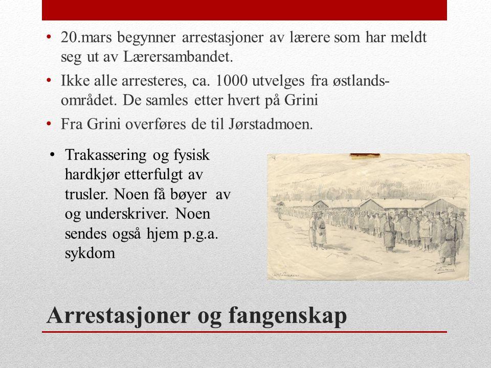 Arrestasjoner og fangenskap