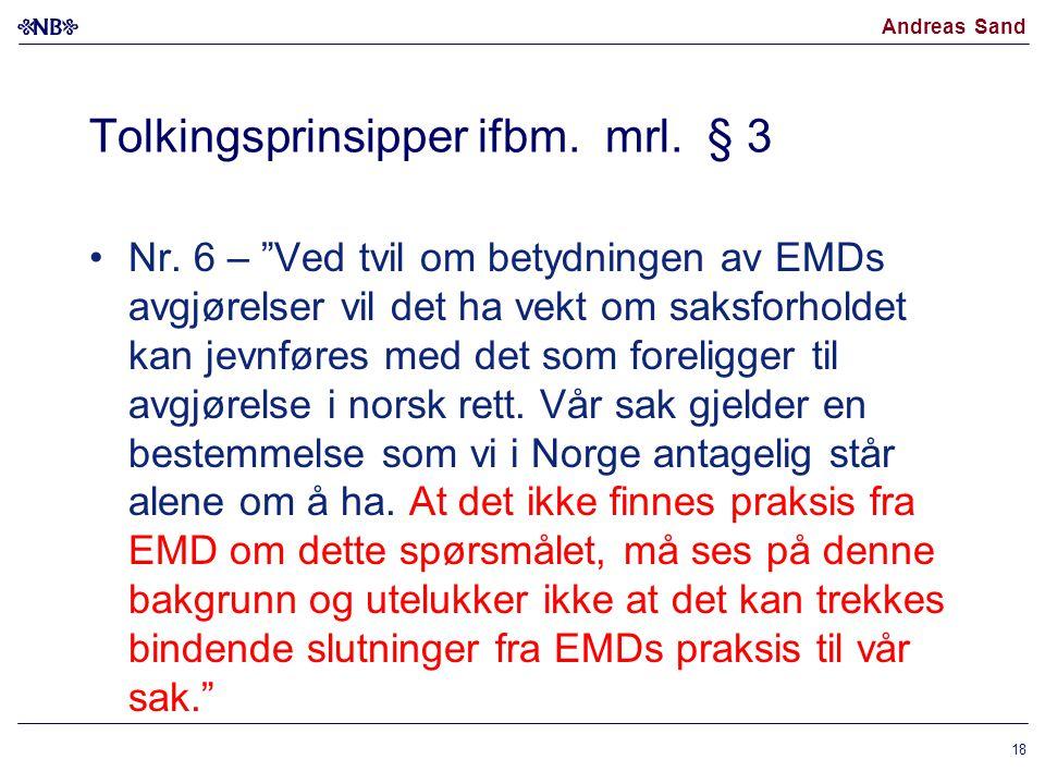 Tolkingsprinsipper ifbm. mrl. § 3