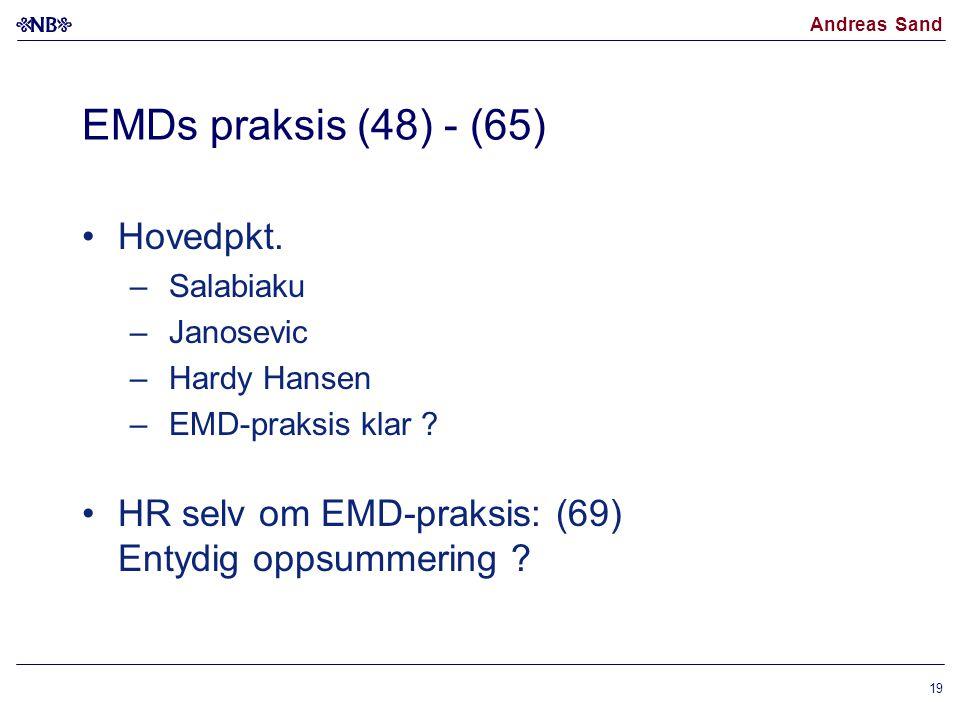 EMDs praksis (48) - (65) Hovedpkt.