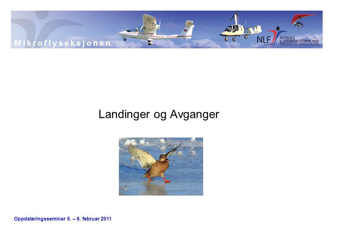 Landinger og Avganger