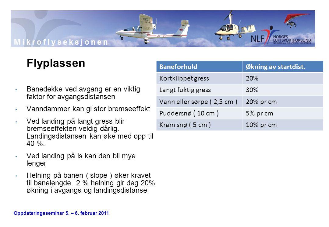 Flyplassen Banedekke ved avgang er en viktig faktor for avgangsdistansen. Vanndammer kan gi stor bremseeffekt.