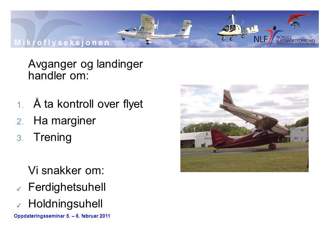 Avganger og landinger handler om:
