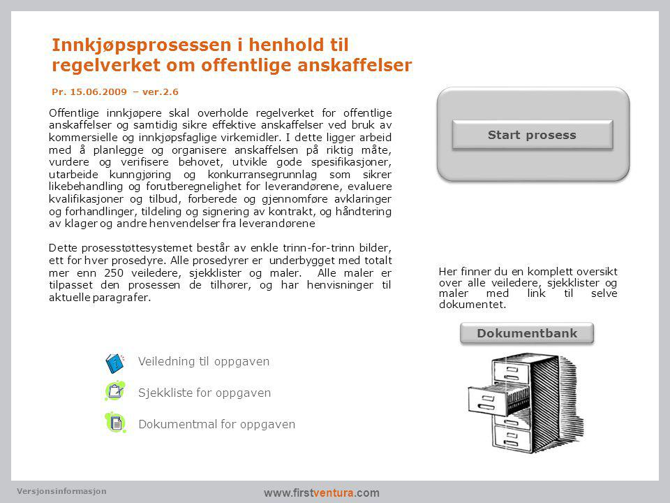 Innkjøpsprosessen i henhold til regelverket om offentlige anskaffelser Pr. 15.06.2009 – ver.2.6