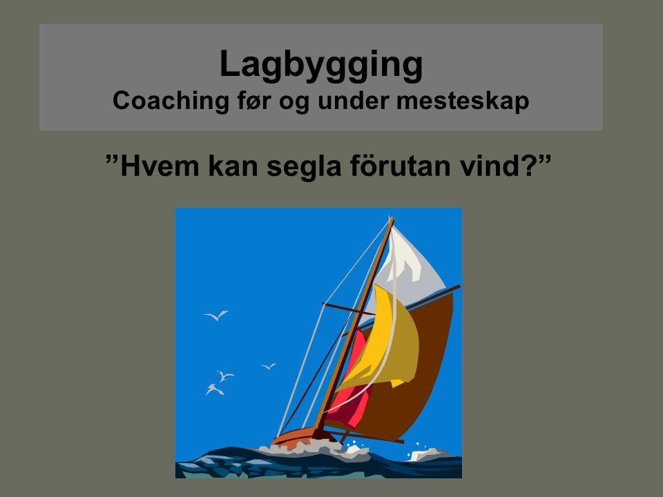 Lagbygging Coaching før og under mesteskap