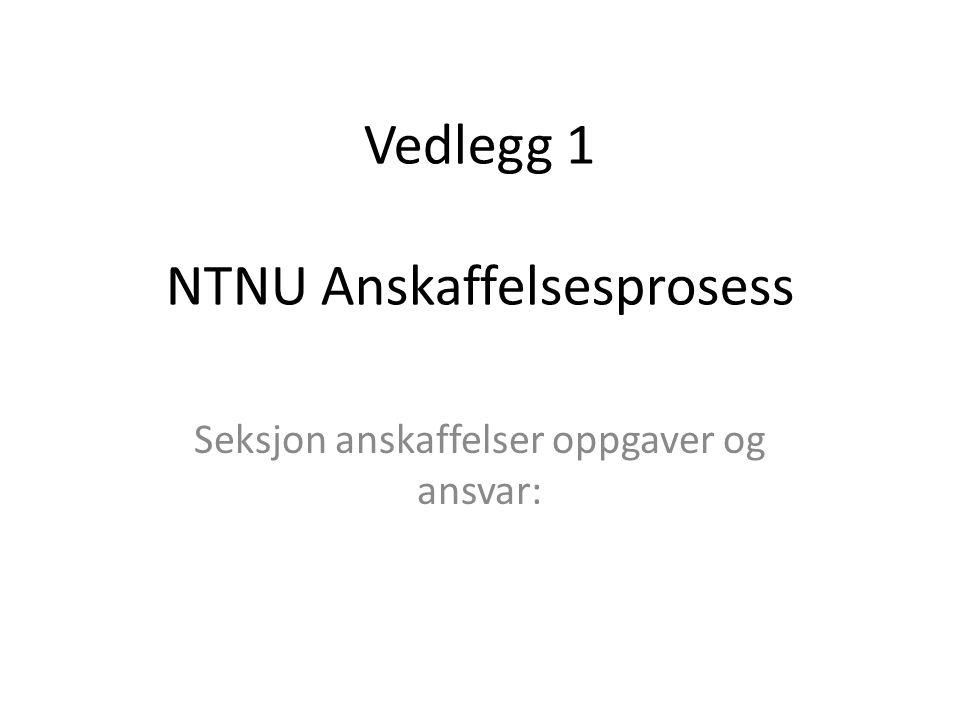 Vedlegg 1 NTNU Anskaffelsesprosess