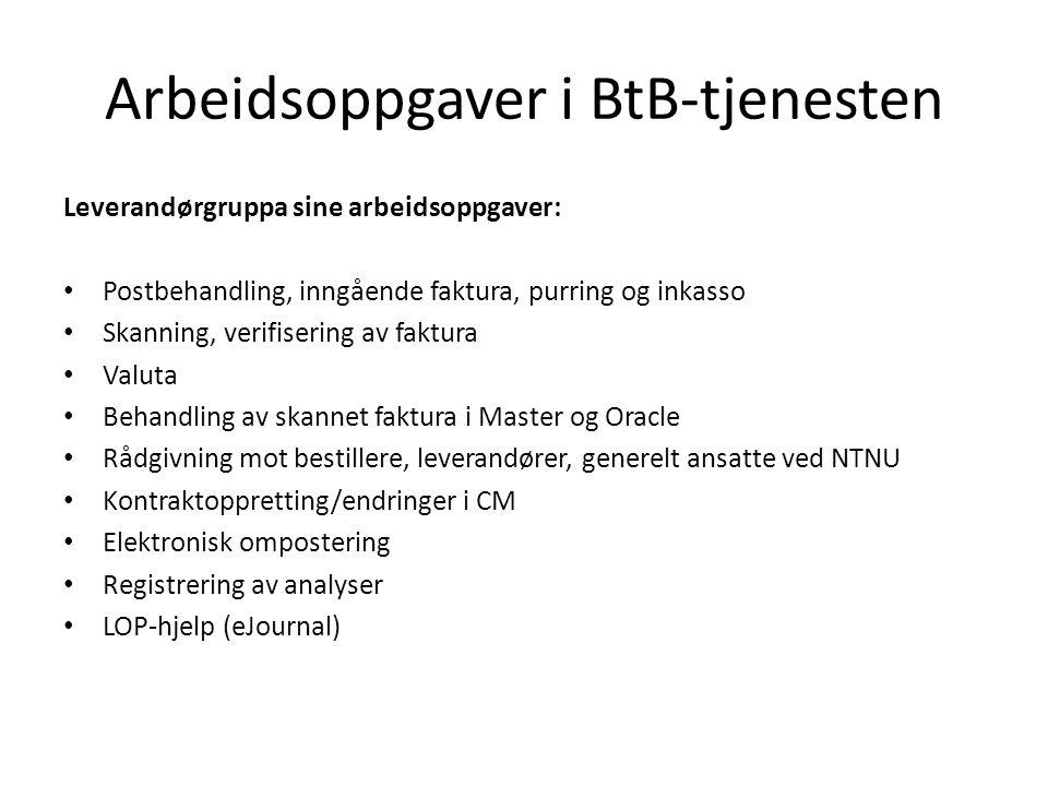 Arbeidsoppgaver i BtB-tjenesten