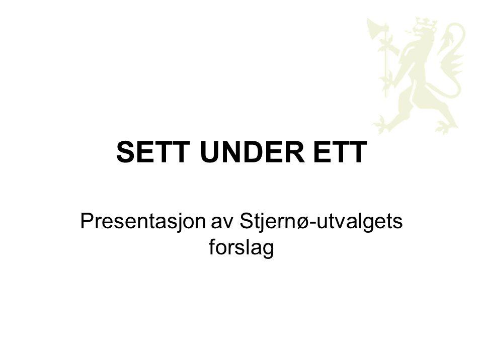 Presentasjon av Stjernø-utvalgets forslag