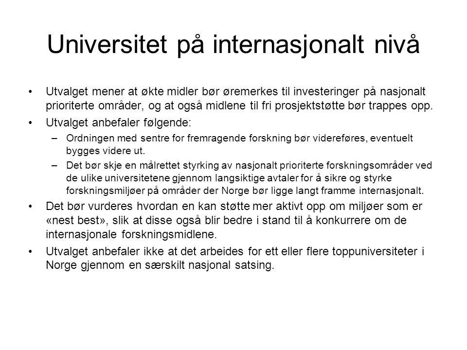 Universitet på internasjonalt nivå