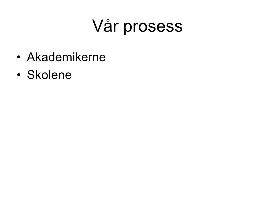 Vår prosess Akademikerne Skolene