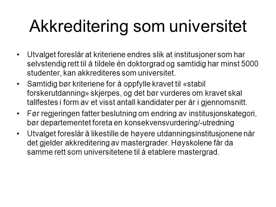Akkreditering som universitet