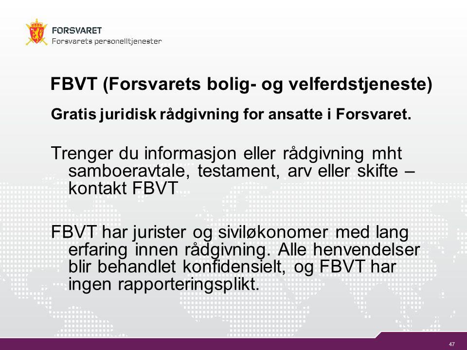 FBVT (Forsvarets bolig- og velferdstjeneste)