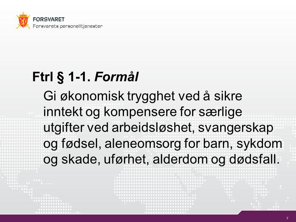 Ftrl § 1-1. Formål