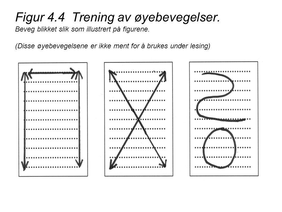 Figur 4. 4 Trening av øyebevegelser