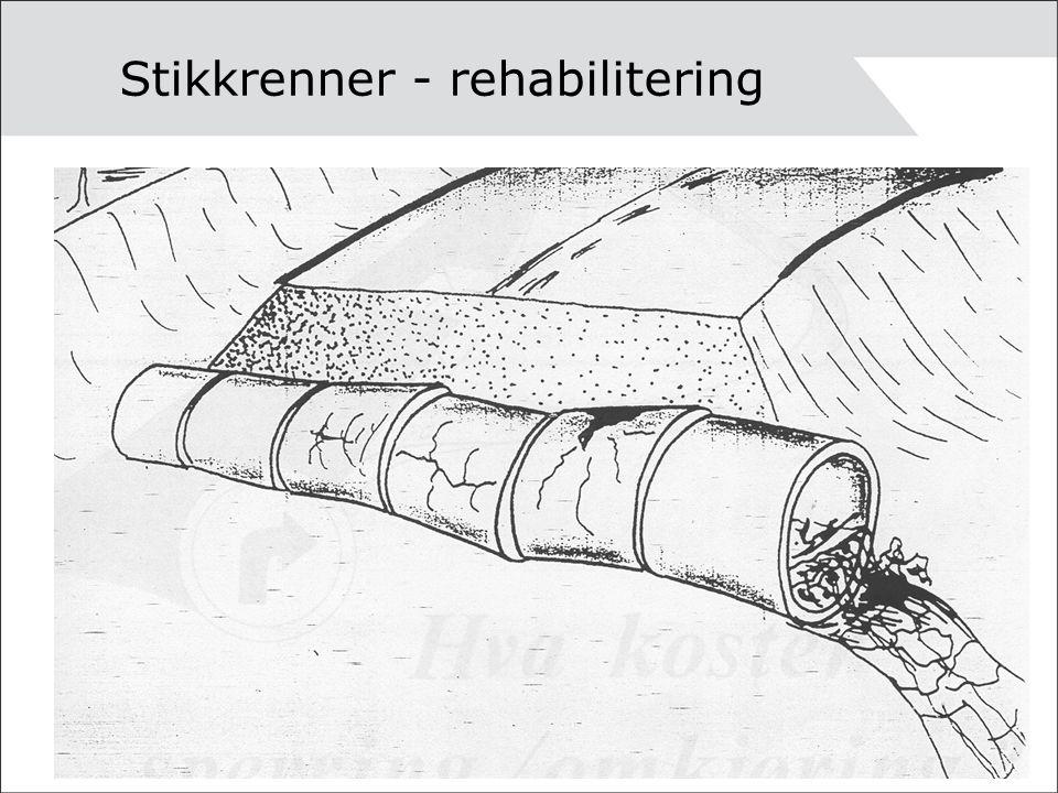 Stikkrenner - rehabilitering