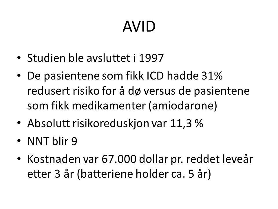 AVID Studien ble avsluttet i 1997