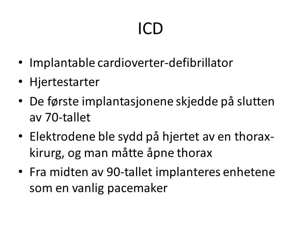 ICD Implantable cardioverter-defibrillator Hjertestarter