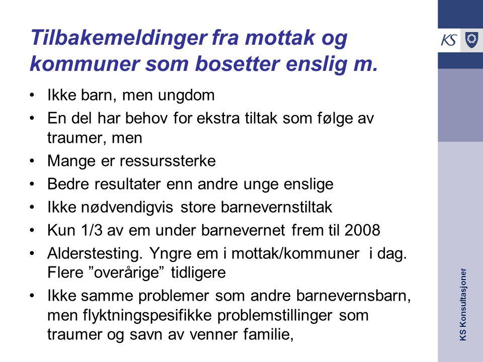 Tilbakemeldinger fra mottak og kommuner som bosetter enslig m.