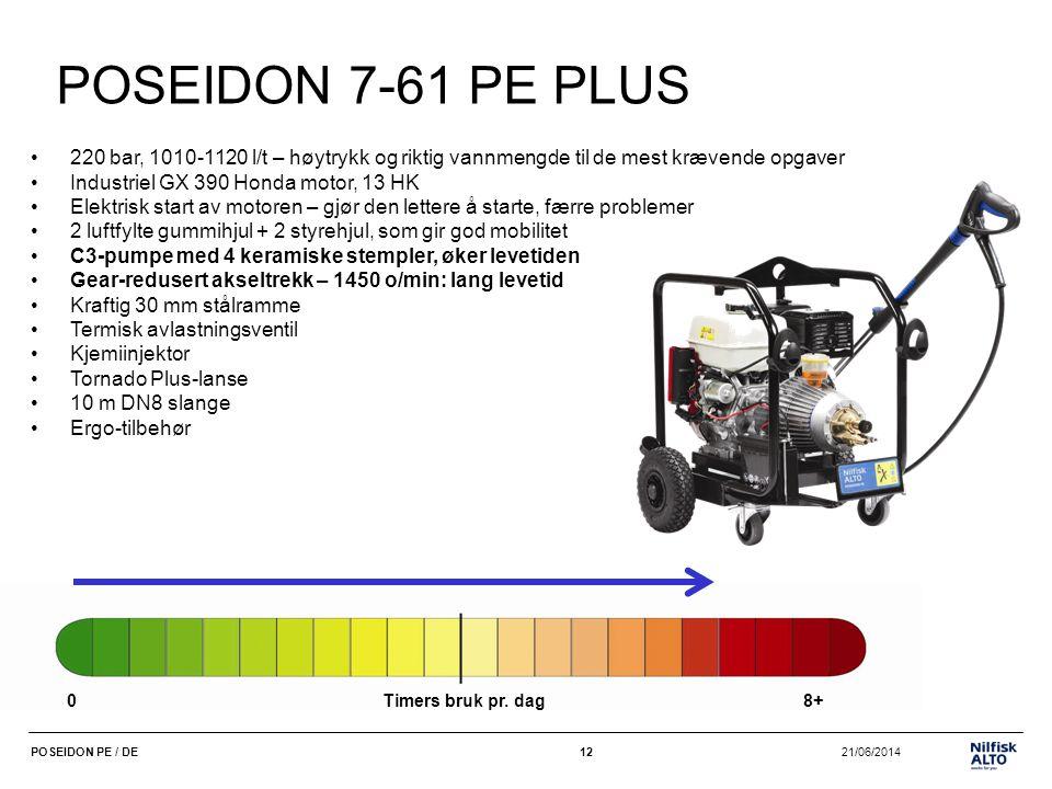 POSEIDON 7-61 PE PLUS 220 bar, 1010-1120 l/t – høytrykk og riktig vannmengde til de mest krævende opgaver.