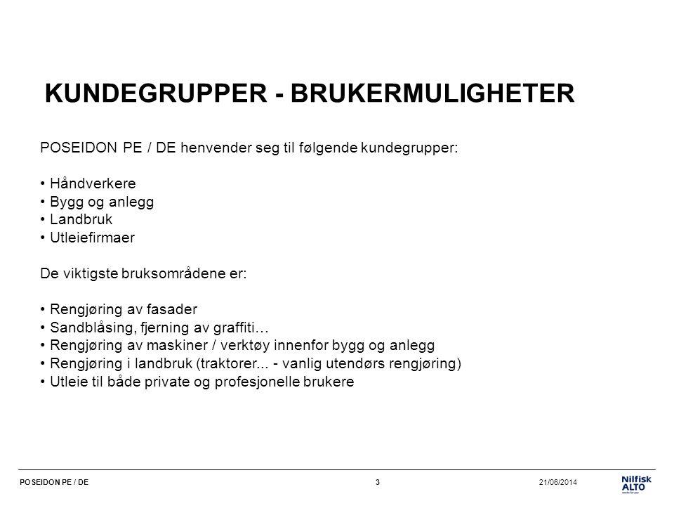 KUNDEGRUPPER - BRUKERMULIGHETER